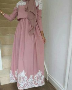 Dress. Pink. Veil. Scarf