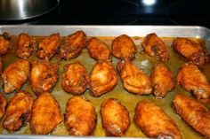 Homemade Oven Baked Hot Wings