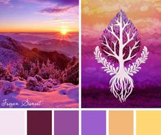 Get inspired by the dazzling array of colors offered in this Frozen Sunset color inspiration.