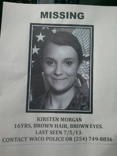 Please help us find my niece. Please! Everytime you share my nieces pic it reaches that many more people. You sharing this could be the share that reaches the right person! Please share this FOR MY NIECE! KIRSTEN AUNT KK LOVES YOU SO MUCH BAAABBBYYYY! MY HEART IS CRYING FOR YOU! **** KEEP PINNING ON YOUR MOST POPULAR BOARDS. -TR this is horrible please share. PINNED FROM ASHLEY BROWN