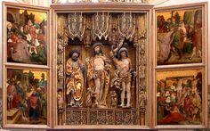 Hochaltar, Pulkau in Niederösterreich Kirche z. Kostbaren Blut Spätgotischer Schnitzaltar, 1515 Szenen der Passion Christi