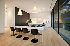 White Smoked Flooring by Royal Oak Floors (Interiors by Carr Design) Royal Oak Floors, Kitchen Colour Schemes, Melbourne House, The Design Files, Timber Flooring, Flooring Options, Sorrento, Floor Design, Kitchen Design