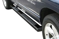 """Image may not reflect your exact vehicle! Westin® - 6"""" Premier Black Powdercoat Oval Step Bars, Installed"""