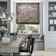 9 Luminous Cool Tips: Fabric Blinds Living Room grey bedroom blinds.Where To Buy Bamboo Blinds window blinds dark.Roll Up Blinds Love. Curtains With Blinds, Faux Wood Blinds, Blue Roman Blinds, Grey Roman Blinds, Home Decor, Window Coverings, House Blinds, Wooden Blinds, Blinds