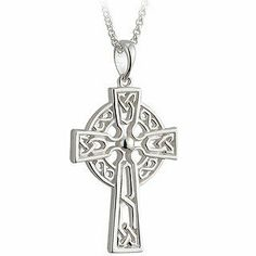 "1 1/4"" Two Sided Silver Filigree Celtic Cross-Irish Made Solvar. $140.00. This gorgeous sterling silver Celtic Cross measures approximately 3/4"" wide (1.9 cm) by 1-1/4"" tall (2.5 cm) and comes on a sterling silver 20"" chain. Celtic Crosses are a traditional cross with a circle behind it once repreenting the Sun and then evolving to symbolizing Christ. Made in Ireland stamped in Dublin Castle. Ships worldwide from the US on same business day in a box perfect for gift giving. th... Dublin Castle, Man Jewelry, Jewelry Necklaces, Filigree Design, Sterling Silver Filigree, Stainless Steel Chain, Celtic Crosses, Stamp, Pendant Necklace"