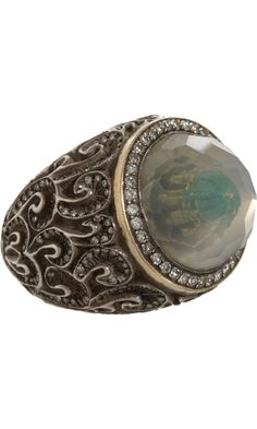 Sevan Bicakci Fountain Carved Moonstone Ring