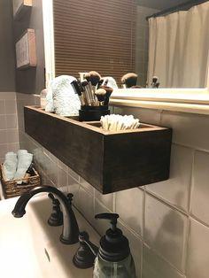 Bathroom Shelf Rustic Organizer Wood Storage Shelves Farmhouse