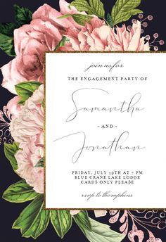 Pink Bouquets - Engagement Party Invitation #invitations #printable #diy #template #Engagement #party #wedding Anniversary Invitations, Engagement Party Invitations, Pink Bouquet, Bouquets, Wedding Engagement, Printable, Template, Party Wedding, Diy