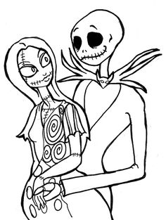 nightmare before christmas coloring pages - Nightmare Before Christmas Coloring Pages