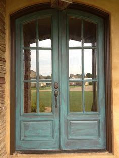 Old double French doors (6 lites each), with hinges on the ...
