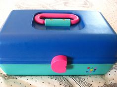 "Caboodle, I have this EXACT one and STILL use it!  (cash box for garage sale, but I use it).  I thought it was the coolest gift EVER!  My parents even got the ""name plate"" for the top.  yep, I rocked it with my Vix pharmacy make-up!"