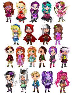 ever after high fan art Monster High Art, Monster High Dolls, Ever After High, Kawaii Chibi, Kawaii Anime, Personajes Monster High, Ever After Dolls, Kawaii Disney, Architecture Tattoo
