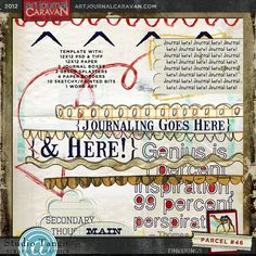 Template: Art Journal Caravan 2012 {Parcel 46} By Tangie @ Scrapbookgraphics.Com