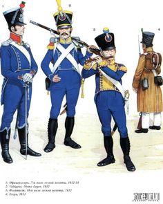 Наполеоновские войны №37 Флейтист егерской роты полка легкой пехоты в парадной форме,1815г.