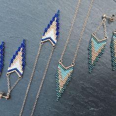 Tadam!!! Les voilà en BO et #sautoir! Avec un nouveau coloris en prime! A retrouver bientôt sur la #boutique, juste le temps de leur trouver un petit nom!! Bonne journée à toutes #artisticbracelet #bijoux #handmade #madeinfrance #collier