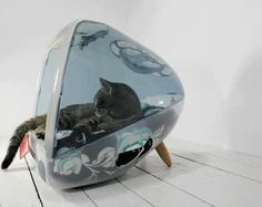 Upcycle your old iMac into a cool little kitty bed