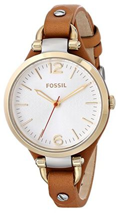 Fossil Women's ES3565 Georgia Analog Display Analog Quartz Brown Watch Fossil http://www.amazon.com/dp/B00HG0AC7I/ref=cm_sw_r_pi_dp_ajdlub15BEJPQ