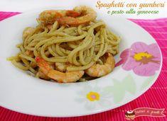 Spaghetti con gamberi e pesto ala genovese ricetta pasta gamberi e pesto
