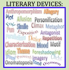 Come get a free handout that clarifies and makes distinctions between the terms: literary devices, literary terms, literary elements and figurative language!