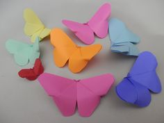 Passo a passo de borboleta de origami. Inspirem-se!