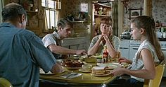 "Bridges of Madison County, Meryl Streep makes lunch for her family. Scene from ""The Clock""'s lunchtime."