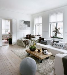 Weihnachtsdeko fürs moderne Wohnzimmer - skandinavisch angehaucht