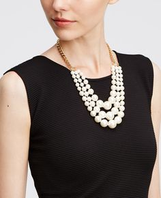 Triple Layer Pearlized Collar | Ann Taylor