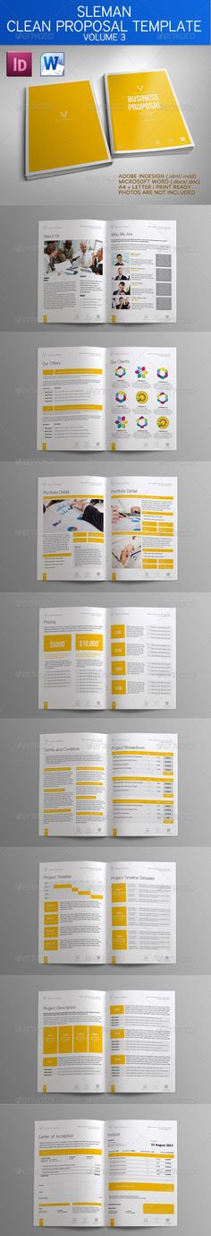 30+ Page Proposal Template - w\/ Contract \ Invoice - Proposals - microsoft office proposal templates