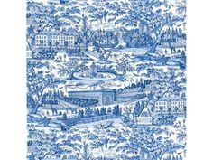 Brunschwig & Fils ZARAFA COTTON PRINT BLUE BR-79744.222 - Brunschwig & Fils - Bethpage, NY, BR-79744.222,Brunschwig & Fils,Print,Light Blue,S,Up The Bolt,BR-79744,Toile,Multipurpose,France,Yes,Brunschwig & Fils,ZARAFA COTTON PRINT BLUE