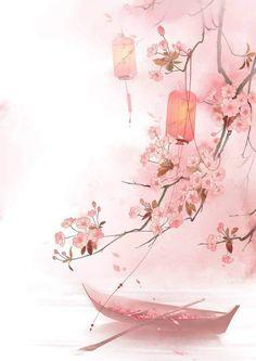 china drawing Drawn Cherry Blossom china 27 - 700 X 990 Cute Wallpapers, Wallpaper Backgrounds, China Art, Anime Scenery, Japan Art, Chinese Painting, Watercolor Art, Japan Watercolor, Fantasy Art