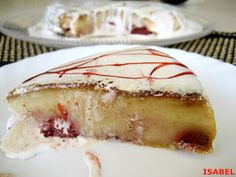 En microondas : PUDIN DE MAGDALENAS Y FRESAS Flan, Cheesecake, Pudding, Desserts, Food Recipes, Sweet Treats, Cook, Toffee, Milk
