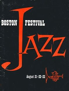 Boston Jazz Festival •1959 program cover