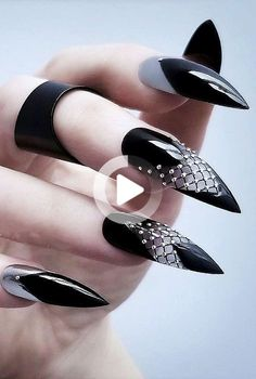 Are the long nails your favorite? Then you must look at these nail designs, where acrylic art is applied very … Acrylic Nails Stiletto, Best Acrylic Nails, Acrylic Nail Designs, Acrylic Art, Witchy Nails, Goth Nails, Long Nail Art, Luxury Nails, Instagram Nails
