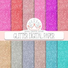 """Glitter Digital Paper : """" Glitter Digital Paper """" with glitter background, glitter texture in gold, silver, pink, purple, red, turquoise https://www.etsy.com/listing/190574677/glitter-digital-paper-glitter-digital?ref=shop_home_active_16"""