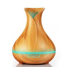 Aromatherapy Diffuser/Purifier-Wood Grain  Mist Maker Air Humidifier Essential Oil Diffuser 400ml