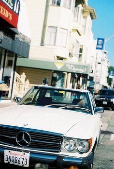 1970s Mercedes Benz SL convertible, San Francisco