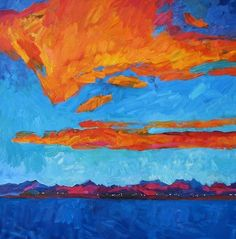 It Happens In August by Larisa Aukon Oil ~ 36 x 36
