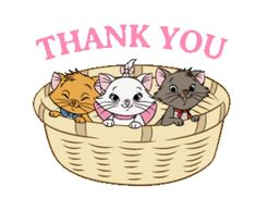 Disney Marie Animated Stickers by The Walt Disney Company (Japan) Ltd. Thank You Memes, Thank You Gifs, Thanks Gif, Kittens And Puppies, Cat Birthday, Thank You Stickers, Walt Disney Company, Cute Gif, Disney Cartoons