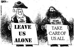 Tea Party V.S. Occupy Wall Street Cartoon // Mr. Conservative