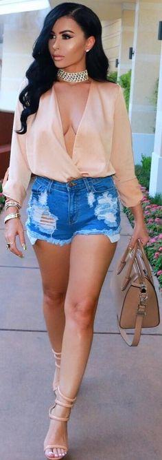 Denim Shorts // Fashion Trend by Amra Olević
