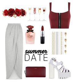 """summer date in rooftop bar"" by adela-pysova ❤ liked on Polyvore featuring New Look, WearAll, Jeffrey Campbell, Forever 21, Paul Smith, LSA International, Dolce&Gabbana, MAC Cosmetics, summerdate and rooftopbar"