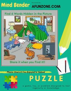 Can you find all 6 #words in this #week #MindBender #Puzzle? Solve Our Mind Bender Here: