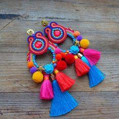 Paper Jewelry, Diy Jewelry, Jewelery, Handmade Jewelry, Soutache Earrings, Beaded Earrings, Tassel Necklace, Baby Girl Pants, Decorative Tape