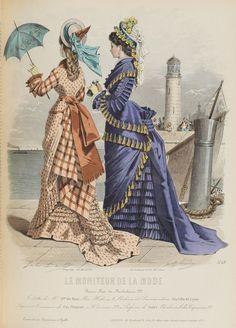 Le Moniteur de la Mode 1875 so many tassels.