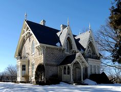Victorian Architecture, developing form of the Gothic Recovery which typically look the stroke made from a sentimental stage to 1 of better exactitude. Gothic Revival Architecture, Beautiful Architecture, Beautiful Buildings, Architecture Details, Beautiful Homes, Gothic House, Victorian Gothic, Victorian Homes, Gothic Lolita