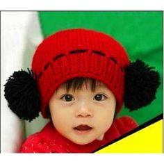 Earflaps Knitting wool Cartoon Babys Caps Knitting Wool, Baby Hats, Babys, Crochet Hats, Beanie, Cap, Cartoon, Babies, Knitting Hats