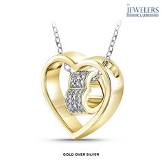 1/10 Carat Total Weight Genuine Diamond Encircled Heart Pendant in Sterling Silver - Assorted Finishes at 88% Savings off Retail!