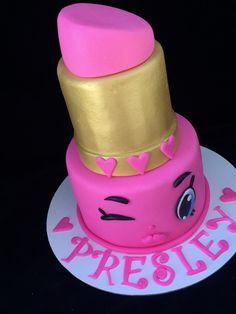 Shopkins lippy lips cake