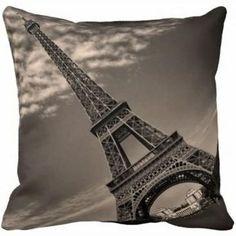 Capa de Almofada PA002 Paris Torre Eifel