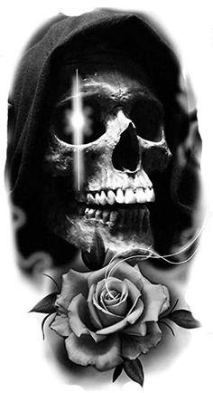 Mask Tattoo, Raven Tattoo, Lion Tattoo, Jester Tattoo, Skull Tattoo Design, Tattoo Sleeve Designs, Sleeve Tattoos, Skull Rose Tattoos, Fake Tattoos